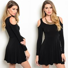black dress (only 2 left) 60% cotton, 45% polyester, 5% spandex.    MODEL IS WEARING THE EXACT PRODUCT   10% off all bundles of 3+ items Dresses Mini