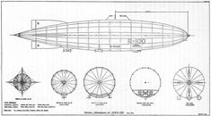 R100 English privately designed and built airship design