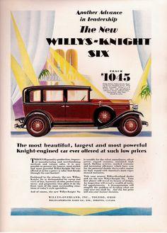 Willys Knight Six Car Advert