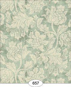 Wallpaper - Floral Damask - Blue