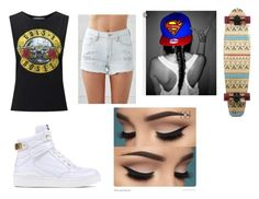 """Skate Park"" by faithjohnson-ii on Polyvore featuring Miss Selfridge, Bullhead Denim Co. and Moschino"