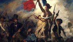 O tema de Liberdade Guiando o Povo é o levante de julho de 1830, na França, que causou a substituição do rei Bourbon Carlos X por Luís Felipe, duque de Orléans. Delacroix retrata um movimento crucial da revolta: o rompimento das barricadas pelos rebeldes. O povo lutava por ideais nacionalistas e republicanos.