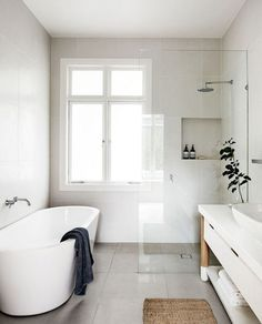 amazing modern farmhouse small master bathroom ideas - # check more at b ., amazing modern farmhouse small master bathroom ideas - # check more at bade. House Bathroom, Home, Minimalist Bathroom Design, Small Master Bathroom, Bathroom Renovations, Small Farmhouse, Luxury Bathroom, Bathroom Design