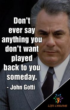 John Gotti quotes are famous quotes for many people who searching for inspiration. Check out our collection for the updated quotes. Quotes By Famous People, People Quotes, Famous Quotes, Best Motivational Quotes, Wise Quotes, Positive Quotes, Gangster Quotes, Real Gangster, Badass Quotes For Guys