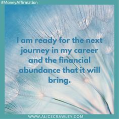 I am so ready , money and great opportunities that's all you need .