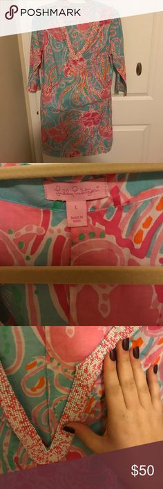 Lilly Pulitzer Dress 100% Cotton Dress. Excellent condition. Worn 5 times max. Very comfy and light dress that's perfect for summertime. Lilly Pulitzer Dresses