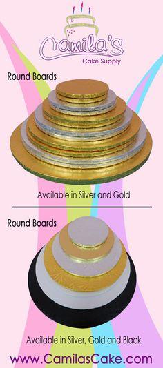 Square, Round and Rectangular Cake Drums