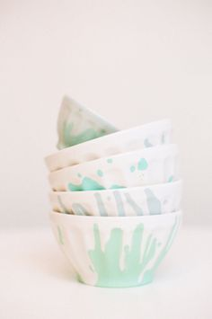Fun bowls: http://www.stylemepretty.com/living/2015/04/08/20-pops-of-pastels-we-love/