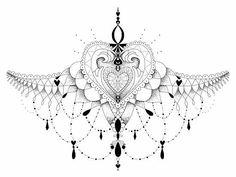 moth sternum tattoo - Szukaj w Google