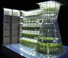 Concept art of urban vertical farming