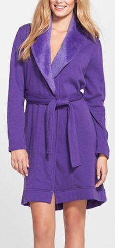 love this bright purple soft UGG robe http://rstyle.me/n/uapthr9te