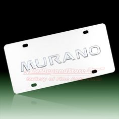 Nissan Murano Chrome Steel License Plate - High Quality Brand New Official Licensed Product - $23.95