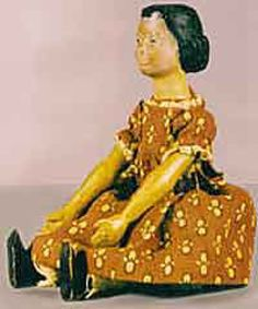 Original Hitty  Hitty (short for Mehitabel) is a tiny wooden doll found by author Rachel Field in a New York City antique shop in the winter of 1927.    The original Hitty doll was carved from mountain ash wood, about 6½ inches tall, with pegged arms and legs, each pair moving together.