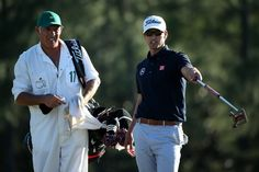 AUGUSTA, GA - APRIL 13:  Adam Scott of Australia talks with his caddie Steve Williams during the third round of the 2013 Masters Tournament at Augusta National Golf Club on April 13, 2013 in Augusta, Georgia.