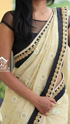 #pintrest@Dixna deol Stylish Blouse Design, Fancy Blouse Designs, Blouse Neck Designs, Blouse Patterns, Simple Sarees, Trendy Sarees, Fancy Sarees, Indian Attire, Indian Wear