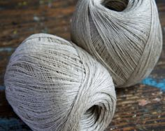 One ball of natural flax wet-spun linen thread, 2-ply. Ball weight is approx. 50 g (1.8 oz).  Note: Shade of colors may vary on your monitor.  Thanks for