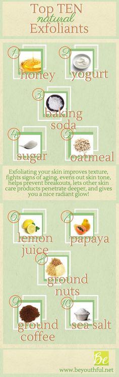 Infographic: Top Ten Natural Exfoliants