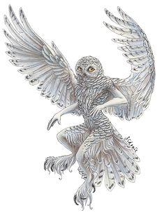Owl Totem / Snowy owl Shaman by Sidonie on DeviantArt