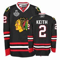 e130ec1b9 Authentic Duncan Keith Jersey  2 Black Stanley Cup Finals Reebok Chicago  Blackhawks Man NHL Jerseys