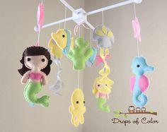 "Baby Crib Mobile - Baby Mobile - Nursery Crib Mobile - Ocean Mobile ""big Under…"