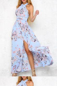 8fbf24f0f9 Dress Backless, Cute Dress #Dress #Backless #Cute Prom Dresses 2019 Floral  Print