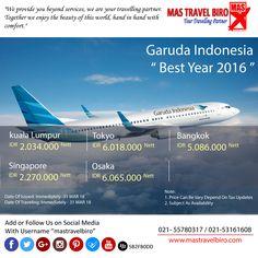 Terbang Ke Kuala Lumpur Hanya 2.034.000 NETT. #mastravelbiro #garudaindonesia #promo #kualalumpur .