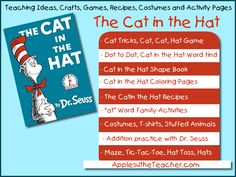 Cat in the Hat Teaching Ideas - Activity sheets, lesson plans, recipes, craft ideas, games, worksheets and more!