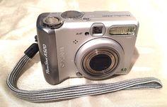 Canon PowerShot A520 4.0 MP Digital Camera - Silver w/ Manuals & Print/AV Cords #Canon