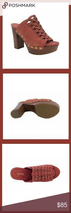 MICHAEL KORS MULE SUEDE SHOES Michael Kors  Westley mule suede shoes Color is cinnamon Brand new in box/ never worn Size 6M Michael Kors Shoes Mules & Clogs