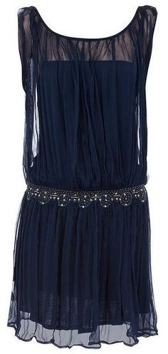 NAVY 18 BLUE VTG 1920s vibe FLAPPER BEADED CHARLESTON SEQUIN DECO DRESS BNWT #RISEBOUTIQUE #20s #Party