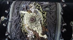 Lady Nightshade Coffin Cushion by SeraphSplendor on Etsy, $145.00