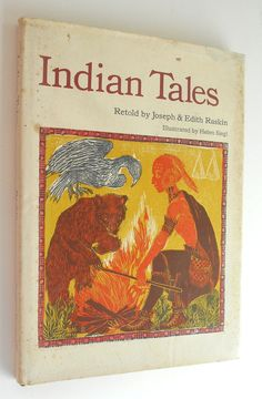 Indian Tales Raskin vintage childrens book by BookandPaperShop