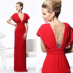 2014 Navy New Chiffon Long Bridesmaid Evening Formal Party Ball Gown Prom Dress #red