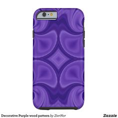 Decorative Purple wood pattern Tough iPhone 6 Case