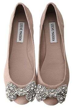 Steve Madden flats with sparkle bow. So glad I don't work in shoe dpt at Dillard's. I would definitely spend all of my pay check on shoes.