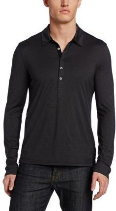 John Varvatos Men s Long Sleeve Collared Pullover Knit Polo on shopstyle.com 1a8d876d14