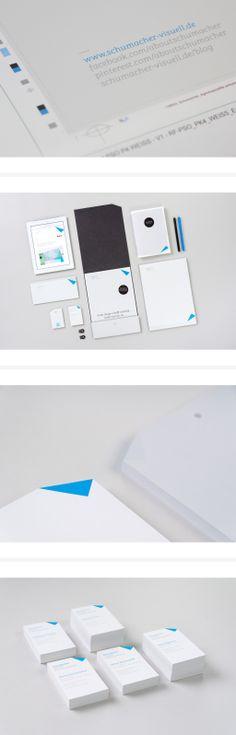 #geschäftsausstattung für die Designagentur Schumacher. Visuelle Kommunikation: Briefpapier, Mappe, #visitenkarten, Kurzprofil… #ci #corporatedesign