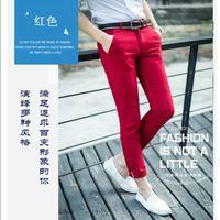 2015 offerta speciale pantalones hombre vendita uomini coreani slim pantaloni 2015 primavera e l'estate elegante confortevole casuale all'ingrosso