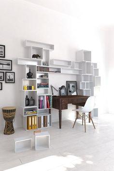 Kitap saklamak için 50 dekoratif çözüm!
