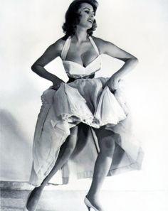 """vintagegal: """" Sophia Loren 1950's """""""