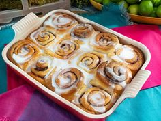 Recipe courtesy of Katie Lee Season Episode 13 Show: The Kitchen Episode: A Sweet and Savory Start Level: Easy Total: 6 hr 15 min (includes rising times) Active: 25 min Yield: 12 rolls Peru, Breakfast Recipes, Dessert Recipes, Breakfast Time, Muffin Recipes, Baking Recipes, Katie Lee, Rolls Recipe, Sweet Bread