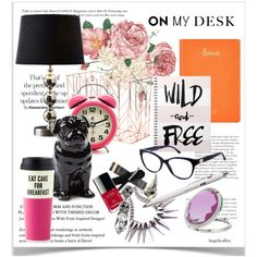 On my desk by angelicallxx on Polyvore featuring polyvore, interior, interiors, interior design, home, home decor, interior decorating, Kate Spade, Harrods and Quail