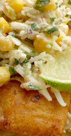 Easy Fish Tacos made with frozen crispy fish sticks and a simple, 5 ingredient homemade cabbage slaw. Serve with corn tortillas for easy fish tacos. Tilapia Recipes, Fish Recipes, Seafood Recipes, Mexican Food Recipes, Snack Recipes, Unique Recipes, Popular Recipes, Amazing Recipes, Food Alert