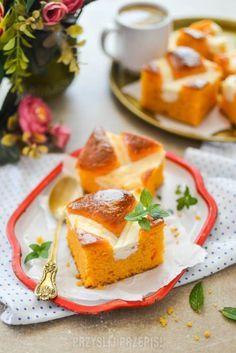 Ciasto dyniowe z serową kratką