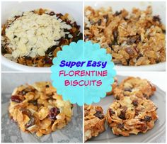It's easy to make the perfect Florentine Biscuits with our super easy recipe! You just pop everything into a bowl, give it all a good stir and then form them into rounds to cook. Florentine Biscuits, Florentines Recipe, Shaped Cookie, Biscuit Recipe, Melting Chocolate, High Tea, Quick Easy Meals, Sweet Recipes, Super Easy