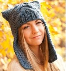 Resultado de imagem para hat earflap knitting pattern