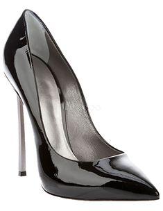 Fabuleux escarpins à bout pointu et talons aigus en PU noir - Milanoo.com