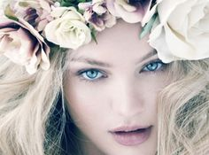 prettiness is...wearing flowers in your hair!
