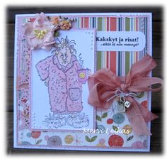 Art Impressions Maude from Ai Golden Oldies line.  Handmade birthday card.
