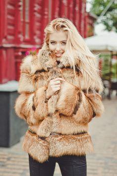 Echte Fuchs Pelz Jacke in grenzüberschreitenden von FurForestfox